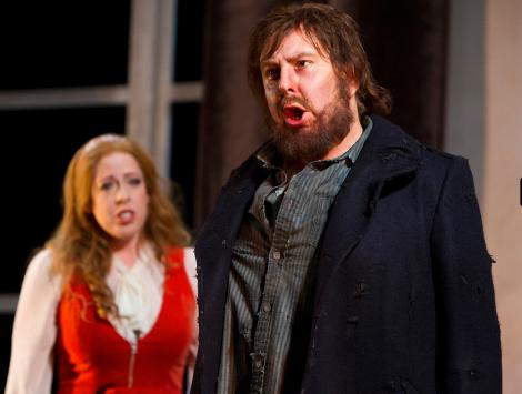 Giselle Allen as Senta and Bruno Caproni as The Dutchman